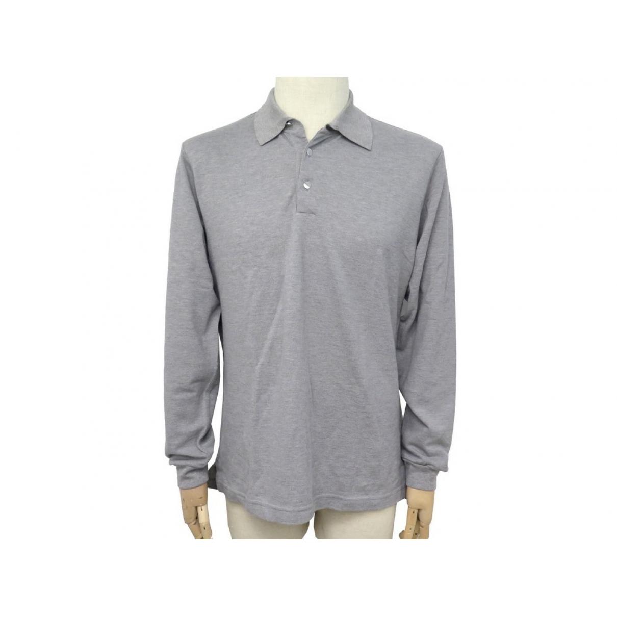 Hermès \N Grey Cotton Polo shirts for Men 46 IT