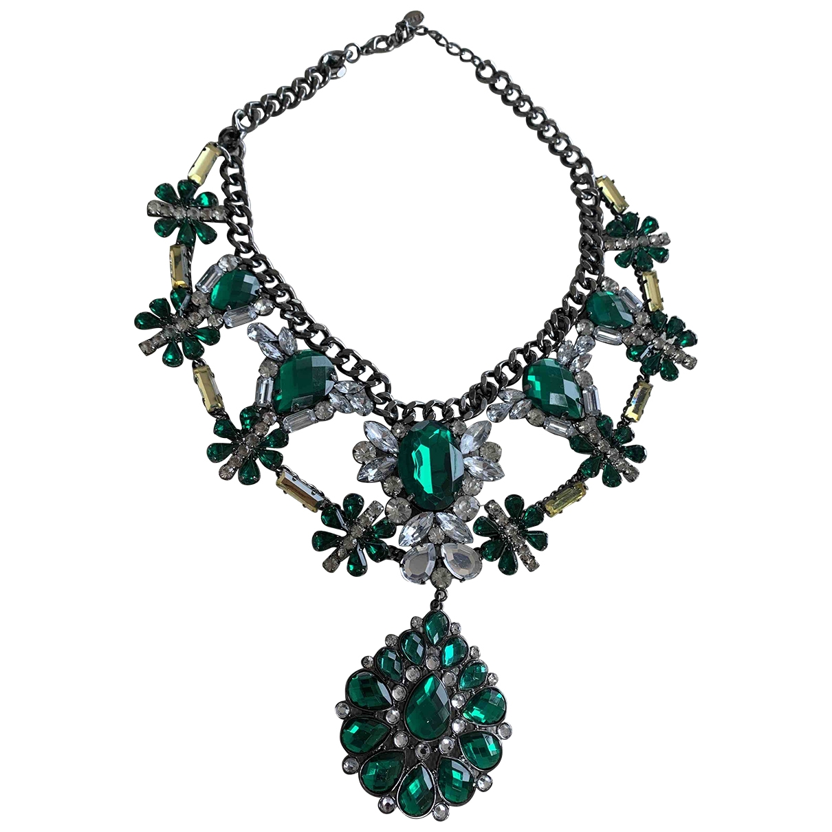 Zara - Collier   pour femme en acier - vert