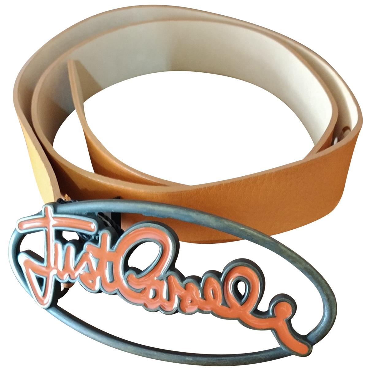 Just Cavalli - Ceinture   pour femme en cuir - orange