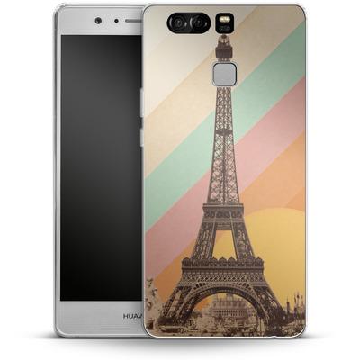 Huawei P9 Silikon Handyhuelle - Eiffel Tower Rainbow von Florent Bodart
