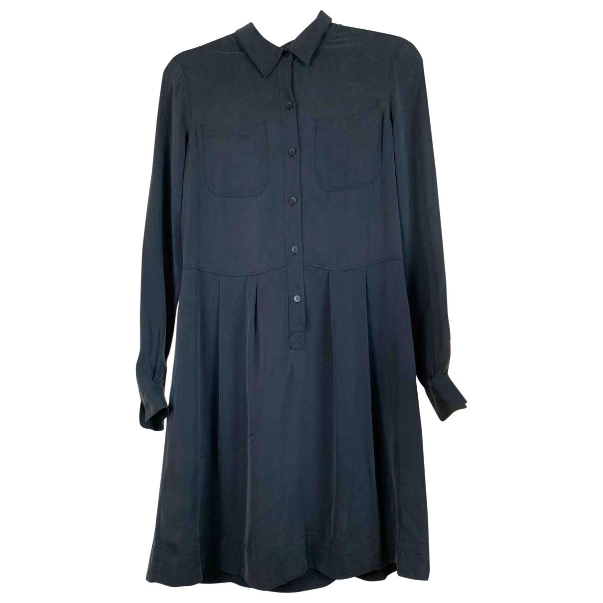 Theory - Robe   pour femme en soie - gris