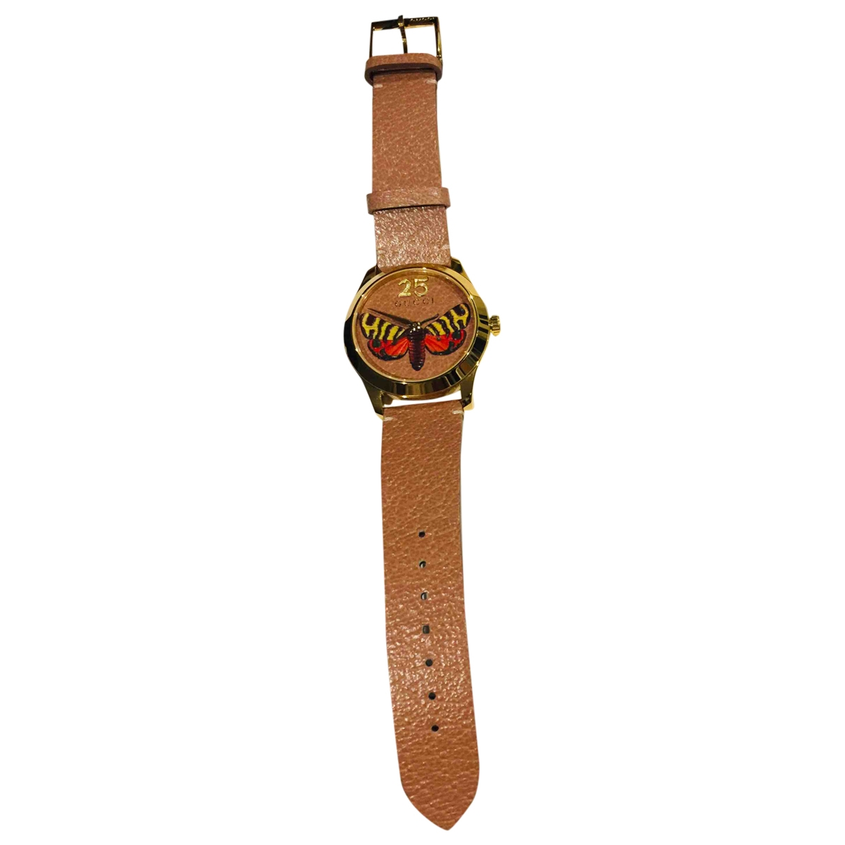 Gucci Le Marché des Merveilles Brown Gold plated watch for Women \N