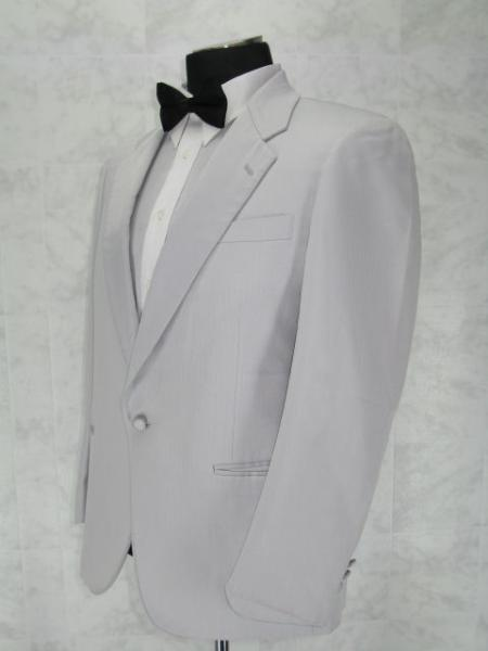 Single Breasted Notch Lapel White 1 Button Notch Lapel jacket