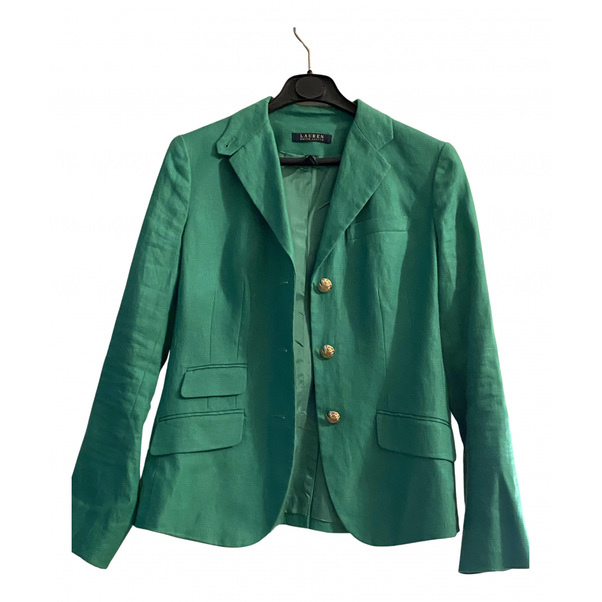 Lauren Ralph Lauren N Green Linen jacket for Women 4 US