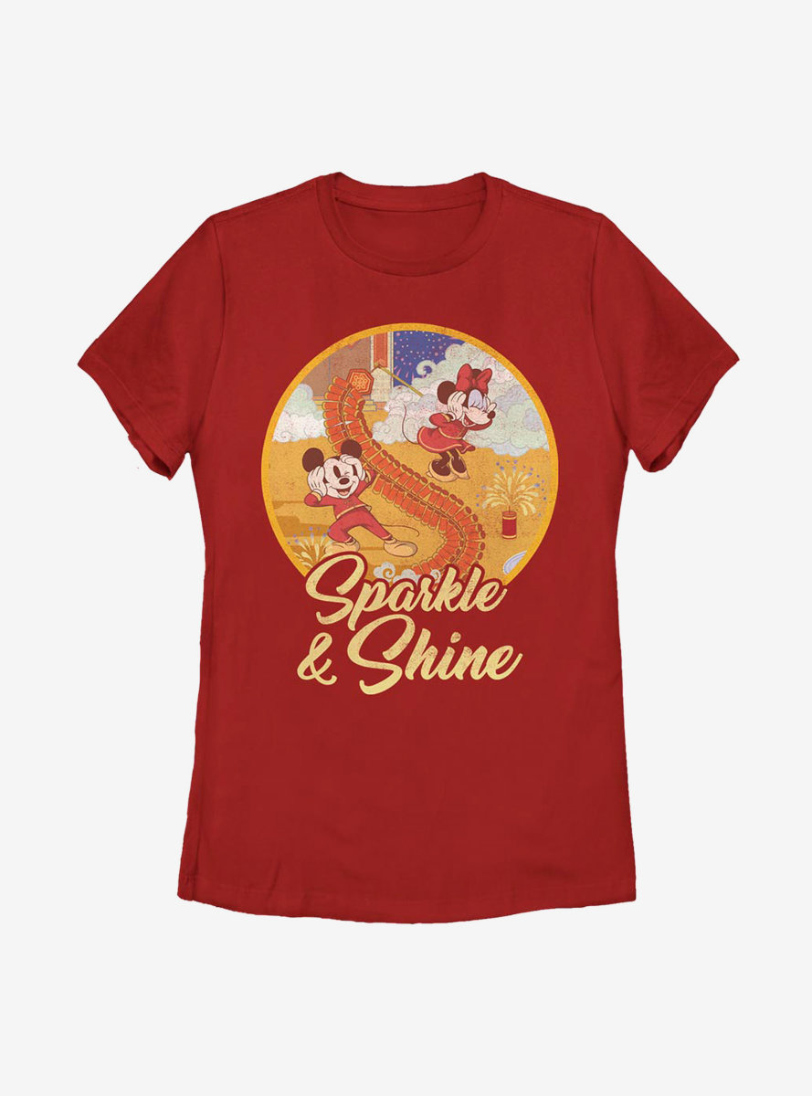 Disney Mickey Mouse Sparkle And Shine Womens T-Shirt