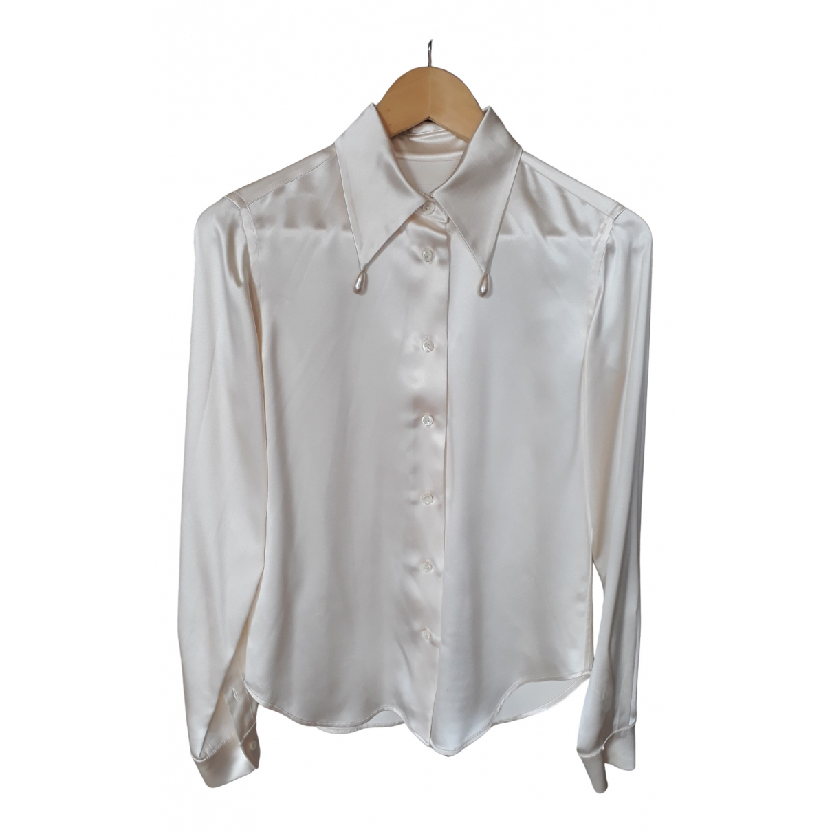 Maison Martin Margiela \N Ecru Silk  top for Women 36 IT