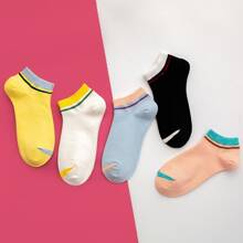 5pairs Striped Detail Socks