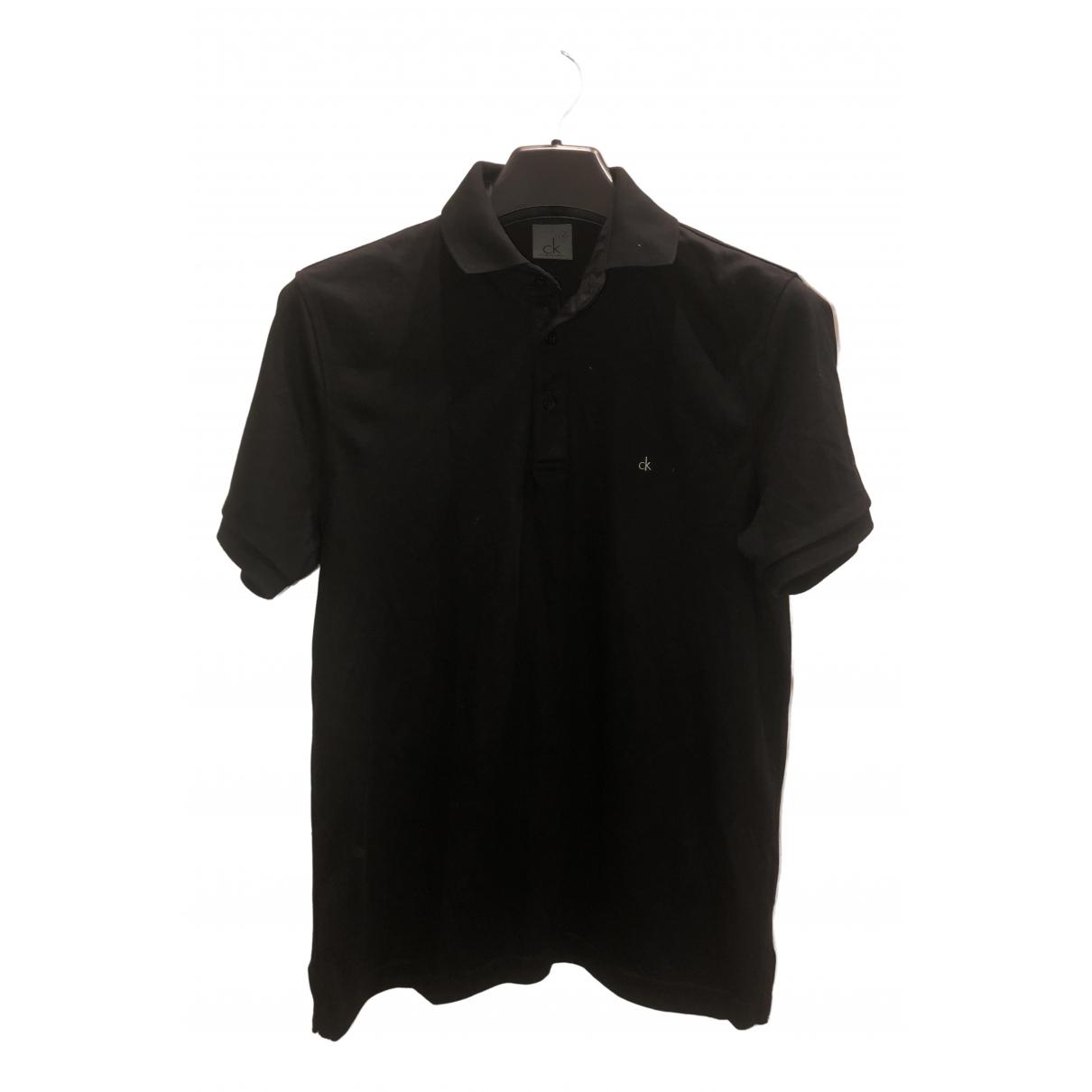 Calvin Klein - Polos   pour homme en coton - noir
