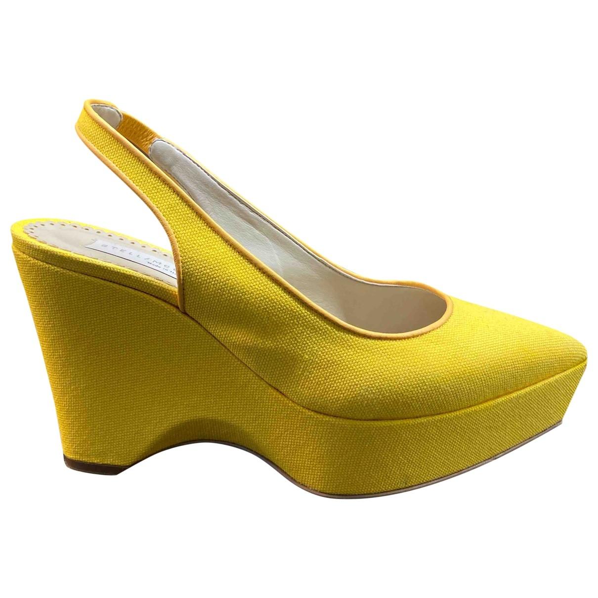 Stella Mccartney - Escarpins   pour femme en toile - jaune