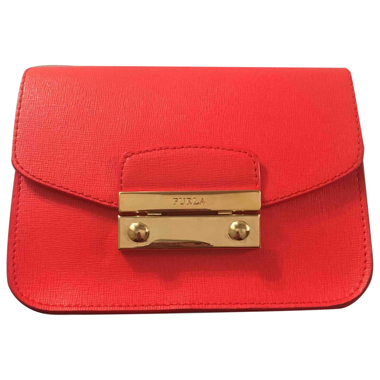 Furla Metropolis Orange Leather handbag for Women \N