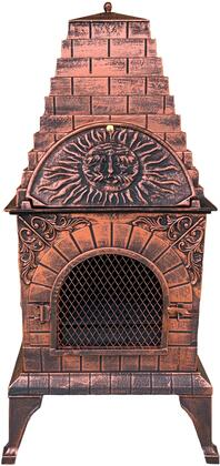 DM-0039-IA-C Aztec Allure Cast Iron Chiminea Pizza Oven in Antique