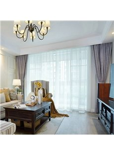 Modern Simple Style European Decorative Blackout Sheer Curtains for Living Room Bedroom