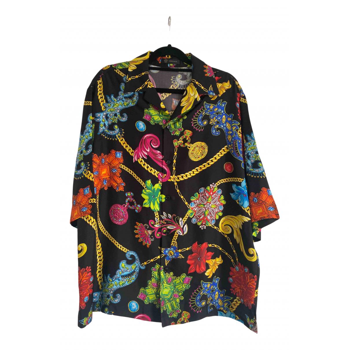 Versace \N Hemden in  Schwarz Seide