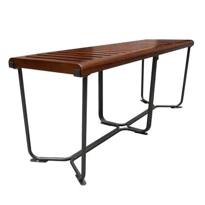 FMI10161-brown Solid Bench 48