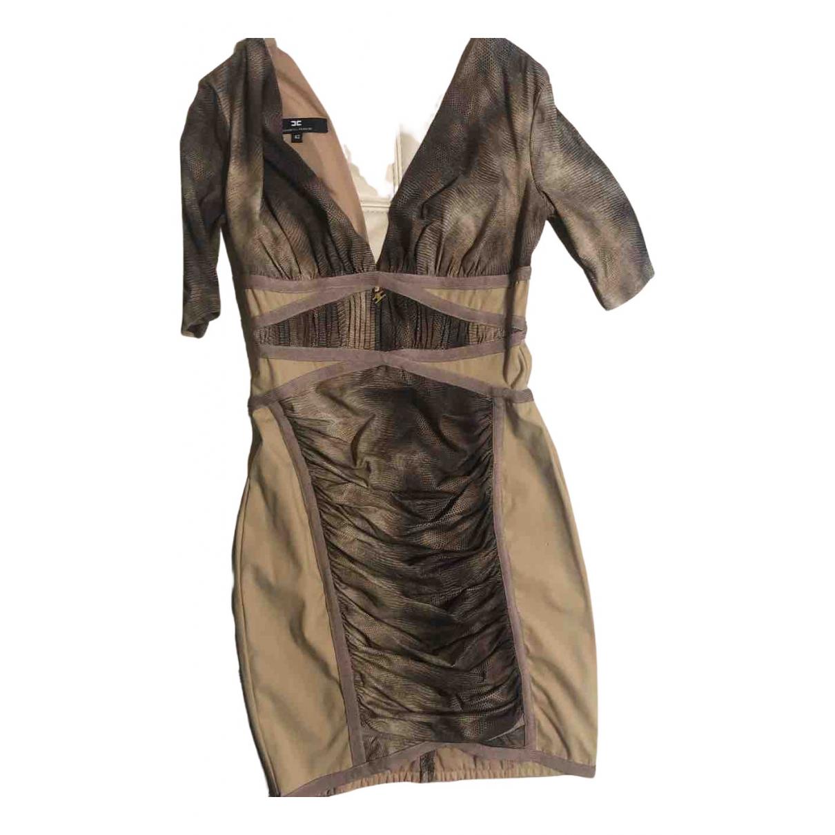 Elisabetta Franchi \N Kleid in  Kamel Baumwolle - Elasthan
