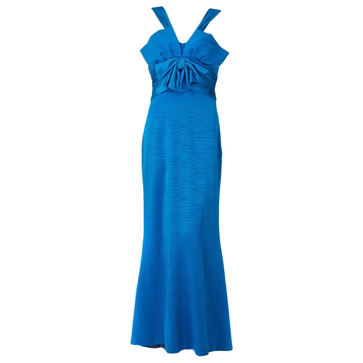 Nina Ricci \N Kleid in  Blau Seide