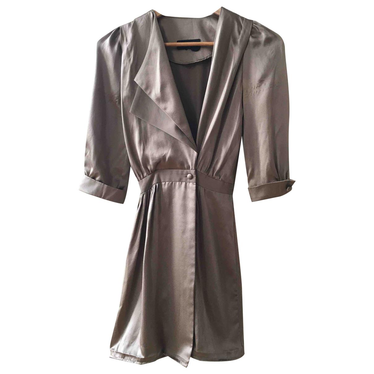 Grey Ant - Robe   pour femme en soie - dore