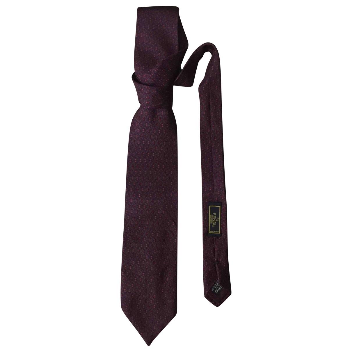 Fendi \N Krawatten in  Rot Seide