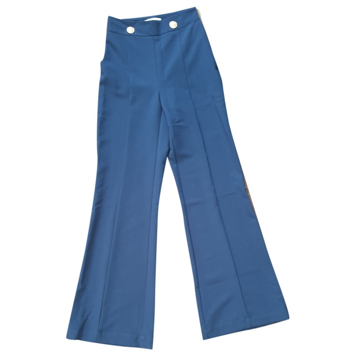 Flavio Castellani \N Blue Trousers for Women 40 IT