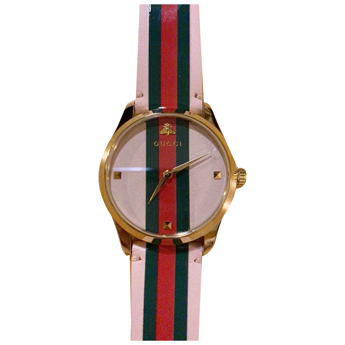 Gucci G-Timeless Uhr in  Rosa Stahl