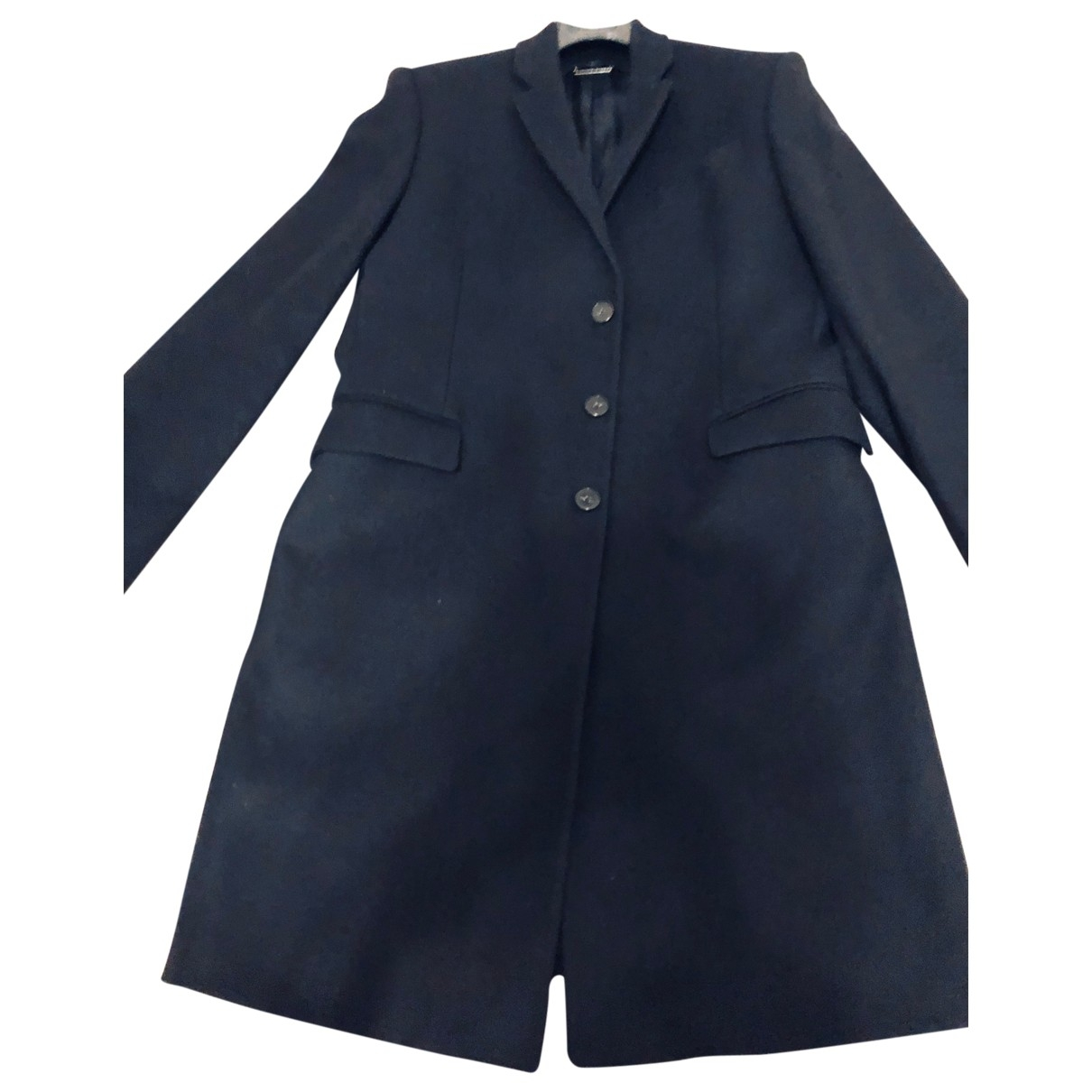 Aquascutum \N Black Wool coat  for Men 50 IT