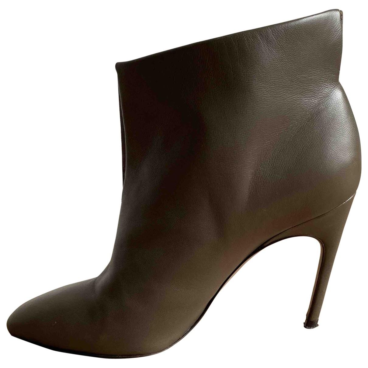 Sergio Rossi - Boots   pour femme en cuir - vert