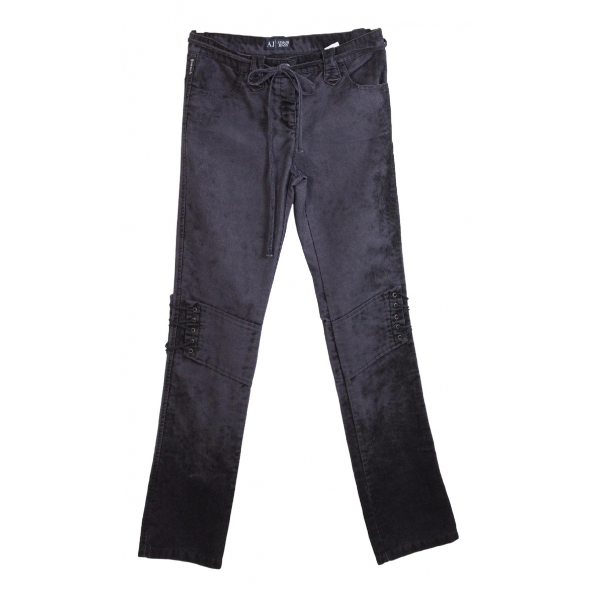 Armani Jeans N Black Cotton Trousers for Women 42 IT