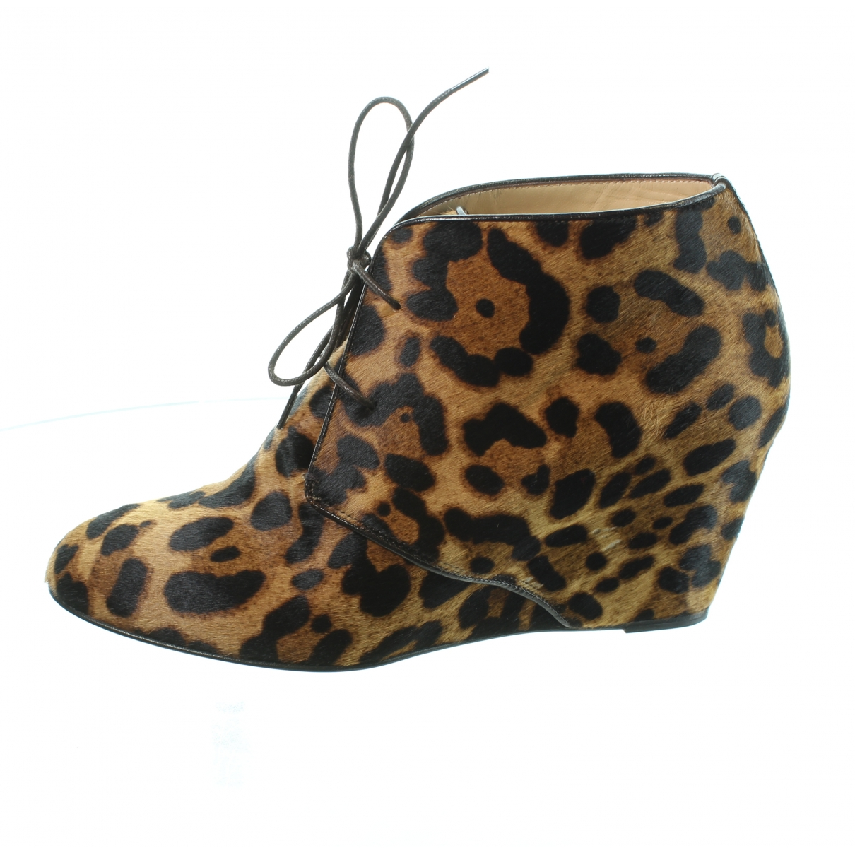 Christian Louboutin \N Multicolour Pony-style calfskin Ankle boots for Women 38.5 IT