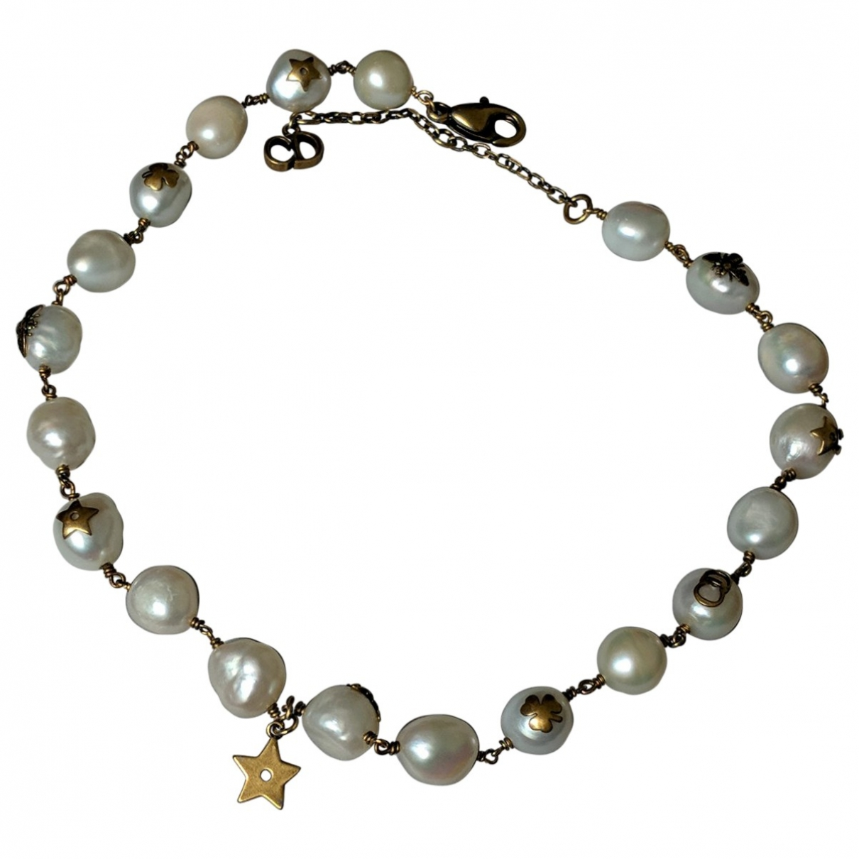 Dior \N White Metal necklace for Women \N