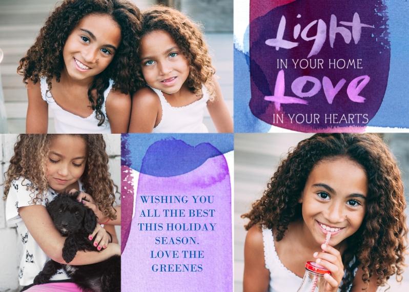 Hanukkah Photo Cards Mail-for-Me Premium 5x7 Flat Card, Card & Stationery -Light Love