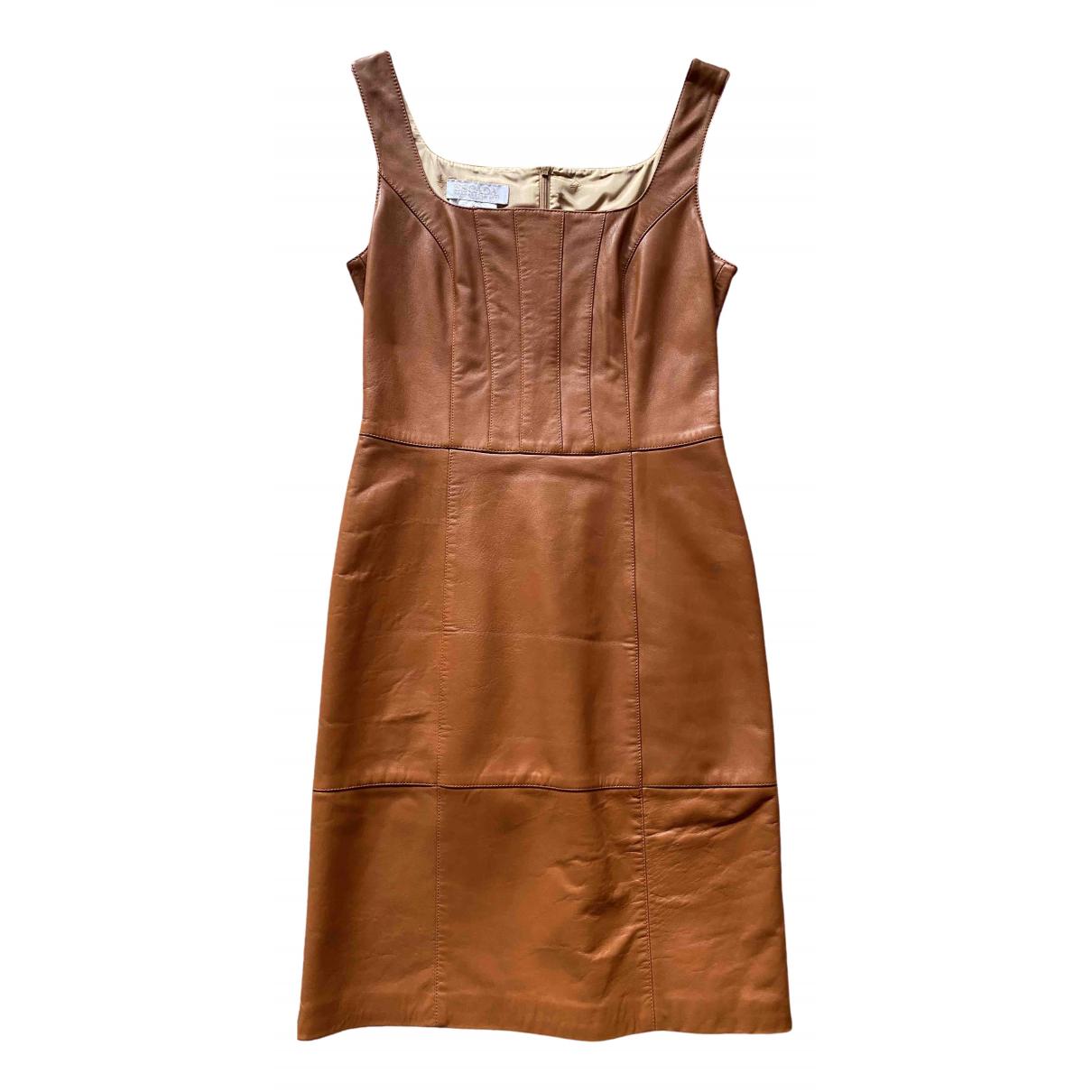 Escada \N Kleid in  Gold Leder
