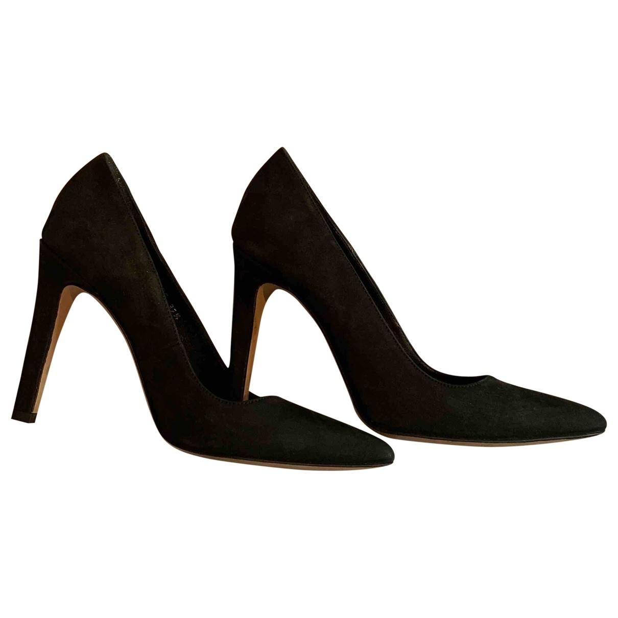 Opening Ceremony \N Black Suede Heels for Women 37.5 EU
