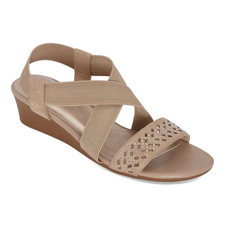 east 5th Womens Greece Wedge Sandals, 9 1/2 Medium, Brown