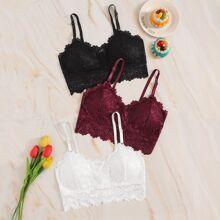 Floral Lace Bra Set 3pack