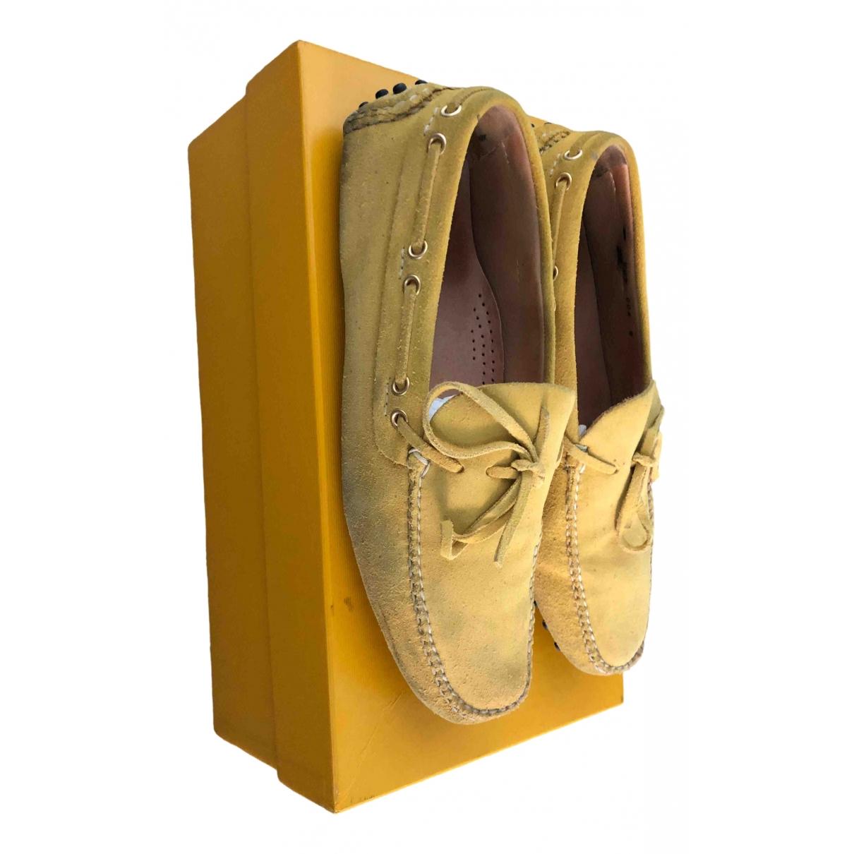 Carshoe \N Mokassins in  Gelb Veloursleder