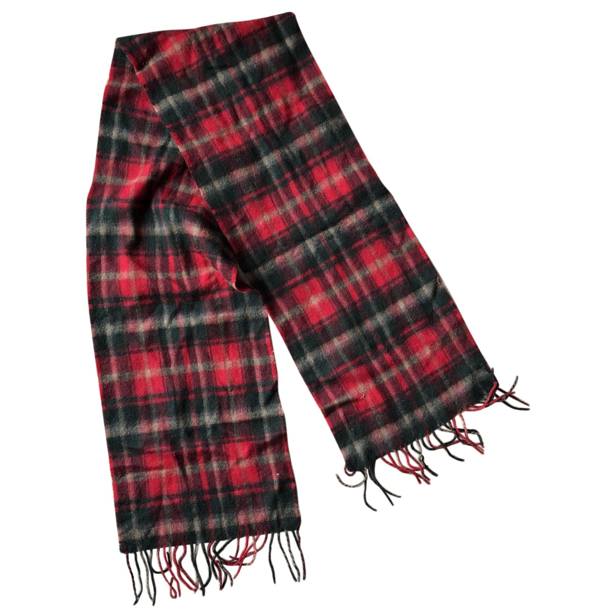 Non Signé / Unsigned N Red Wool scarf for Women N