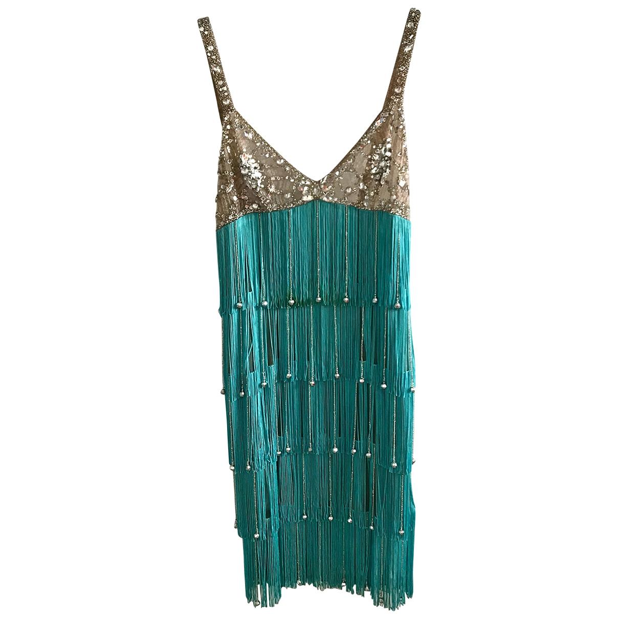 Jenny Packham \N Kleid in  Tuerkis Polyester