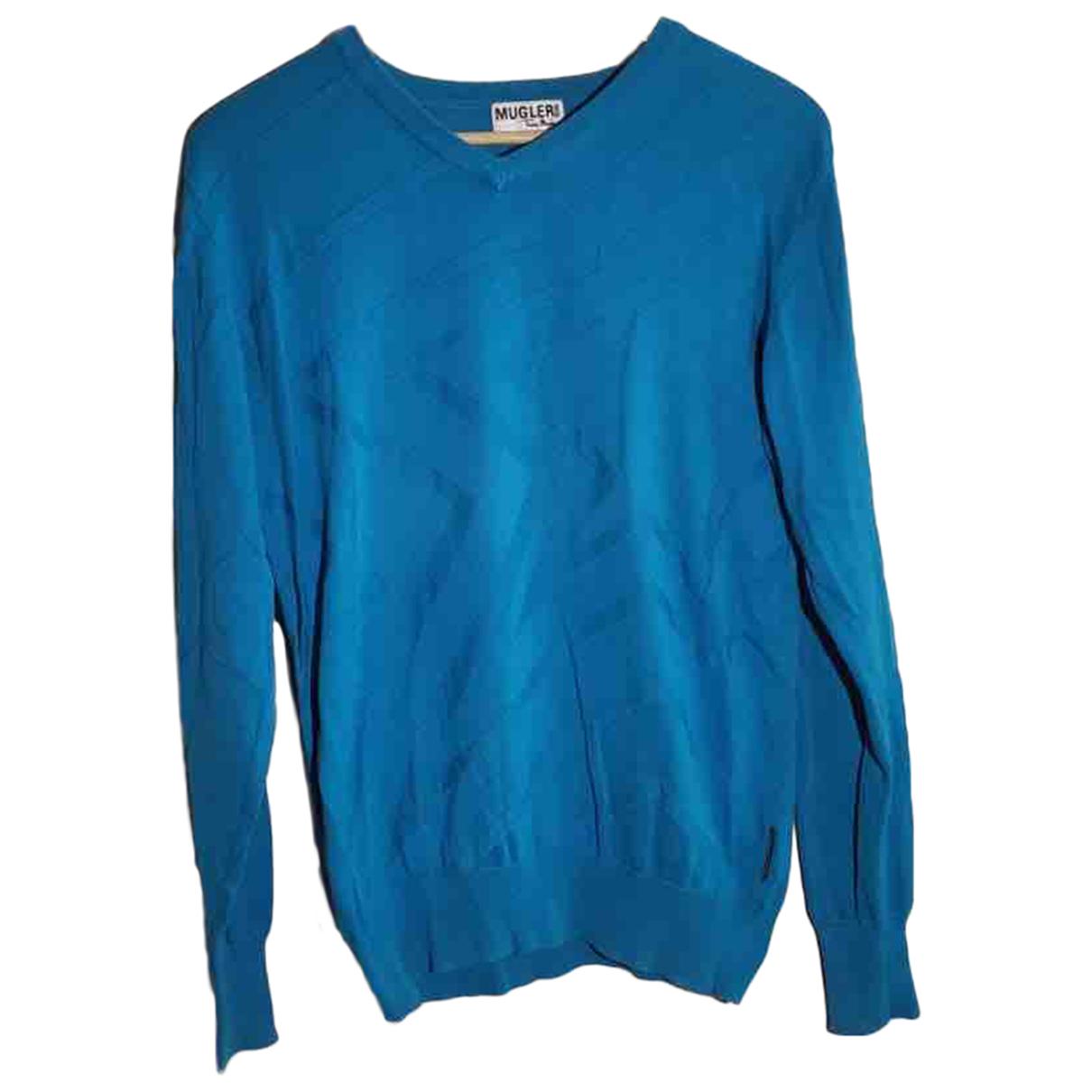 Thierry Mugler - Pulls.Gilets.Sweats   pour homme en coton - bleu