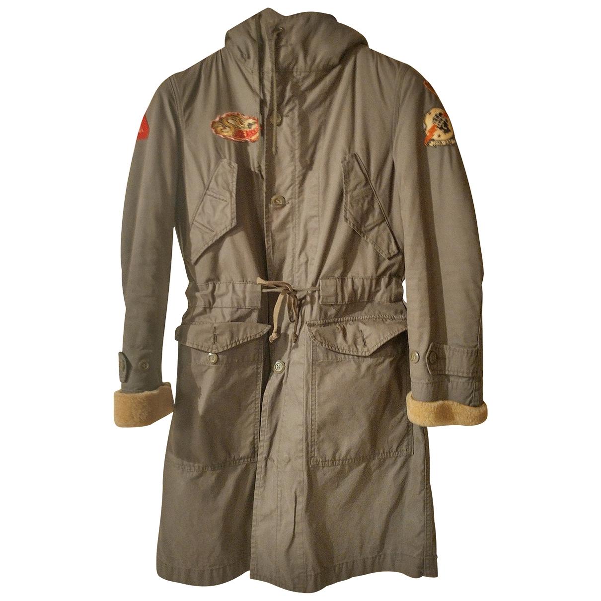 Replay \N Green Cotton coat for Women 42 IT