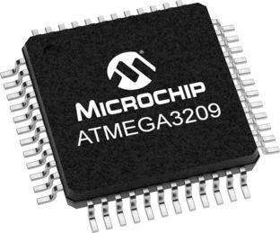 Microchip ATmega3209-AFR, 8bit Microcontroller, Atmega, 20MHz, 32 kB Flash, 48-Pin TQFP (2500)