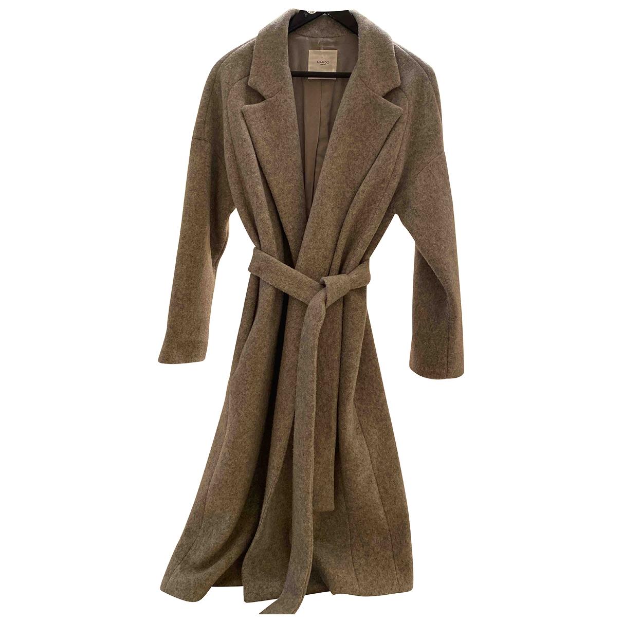 Mango - Manteau   pour femme en laine - gris