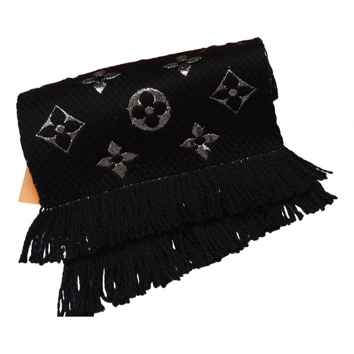 Louis Vuitton Logomania Black Wool scarf for Women \N