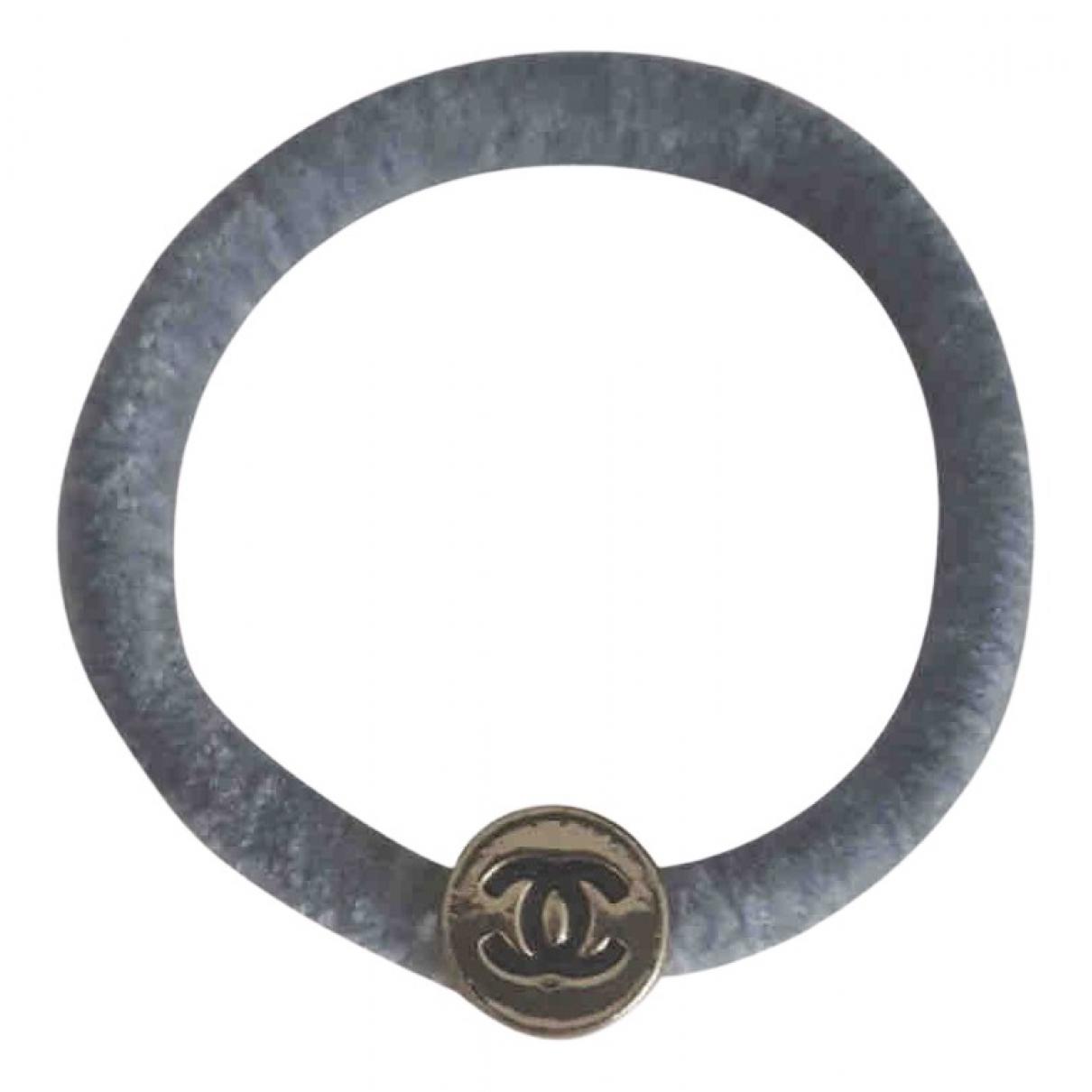 Chanel CC Haarschmuck in  Grau Metall