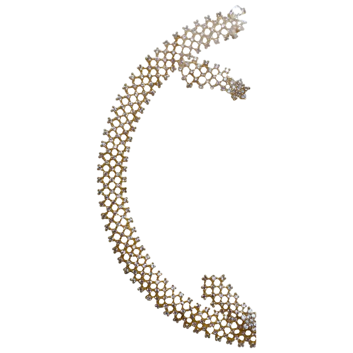 Non Signé / Unsigned N Gold Gold plated necklace for Women N