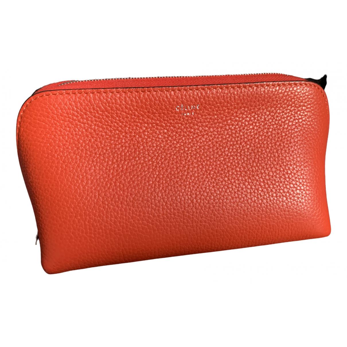Celine - Sac de voyage   pour femme en cuir - orange