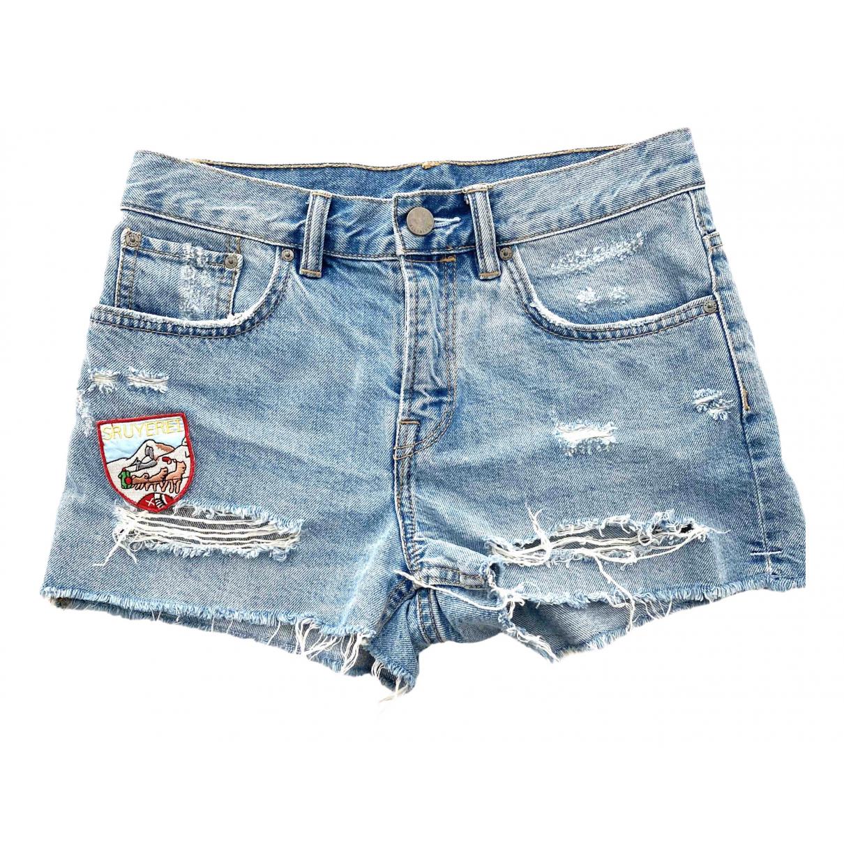 All Saints \N Shorts in  Blau Denim - Jeans