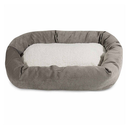 Majestic Pet Villa Collection Sherpa Bagel Pet Bed, One Size , Gray