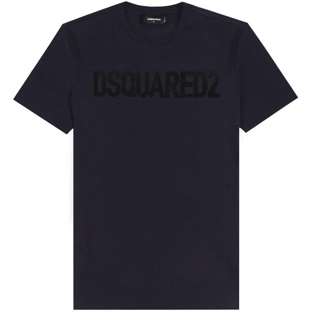 DSquared2 Classic Logo T-Shirt Colour: NAVY, Size: MEDIUM