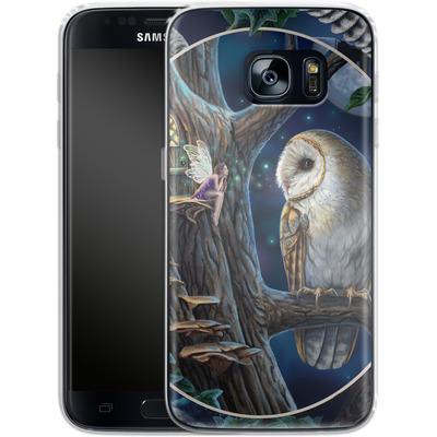 Samsung Galaxy S7 Silikon Handyhuelle - Owl Montage von Lisa Parker