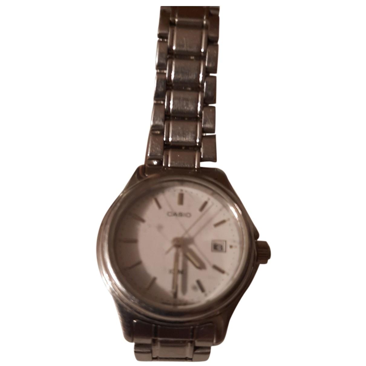 Casio \N Uhr in  Metallic Stahl